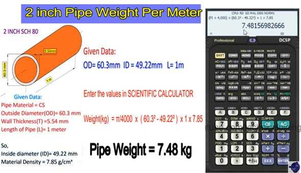 Steel Pipe Weight Formula Steel Pipe Calculation Formula