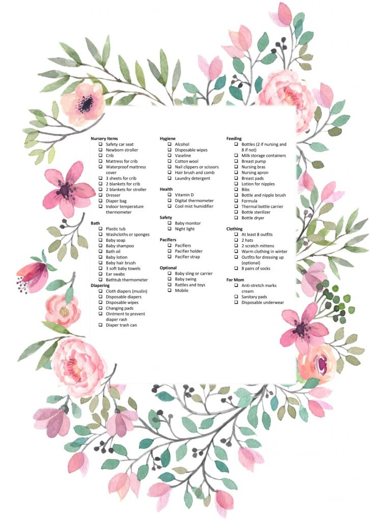 THE Ultimate Free Baby Registry Checklist Printable