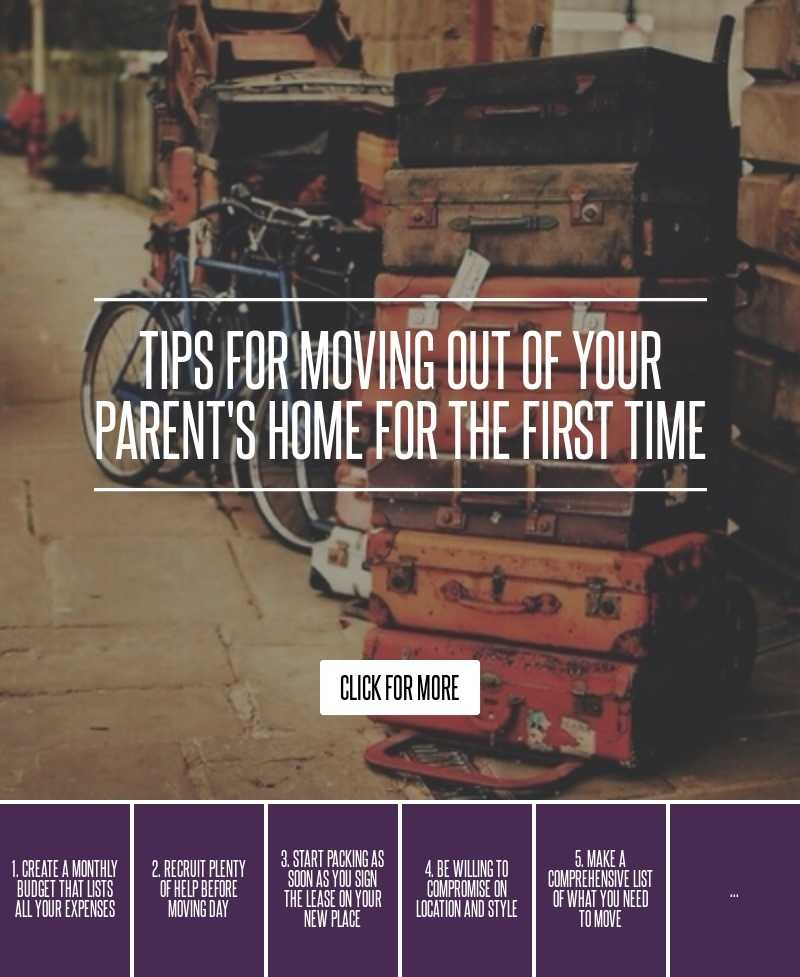 Tips For Moving Out Of Your Parent s Home For The First
