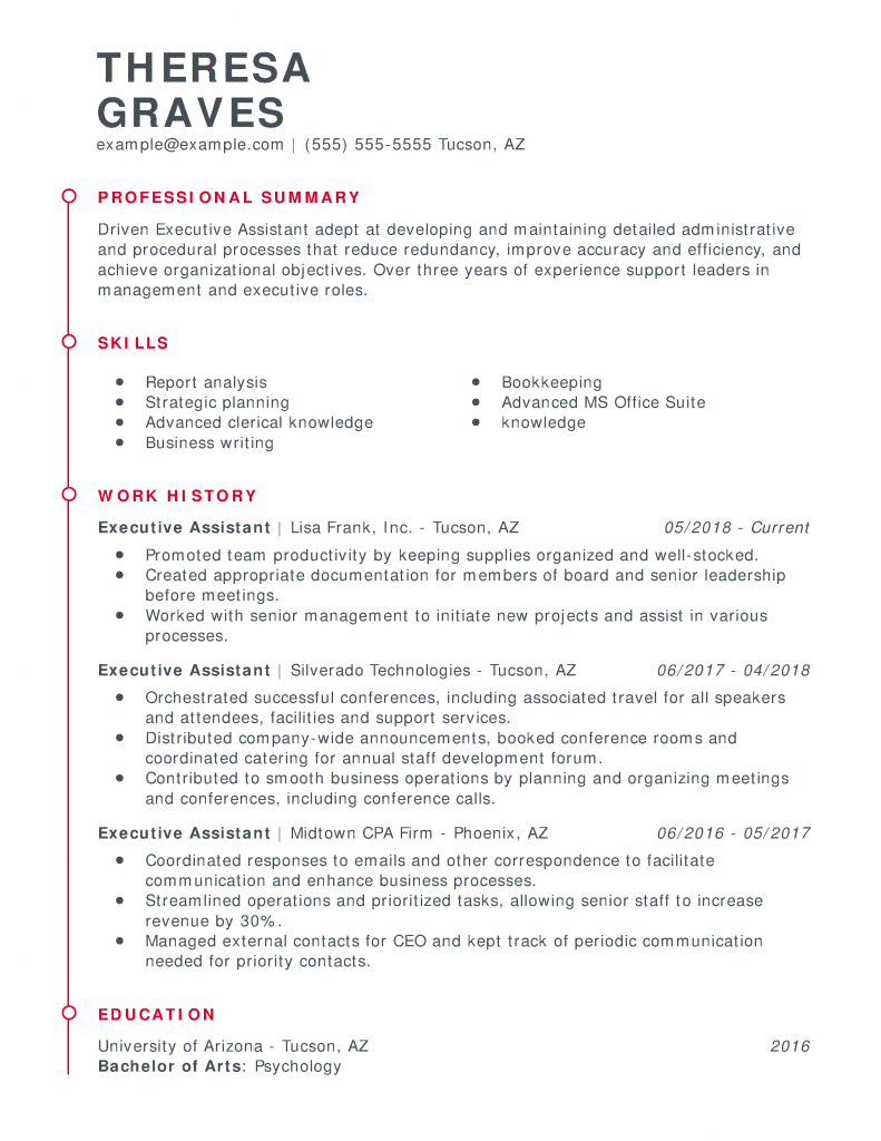 Use This 1 Administrative Assistant Resume To Start Yours