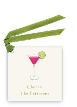Pink Cosmo With Lime Personalized Gift Tag And Vavor