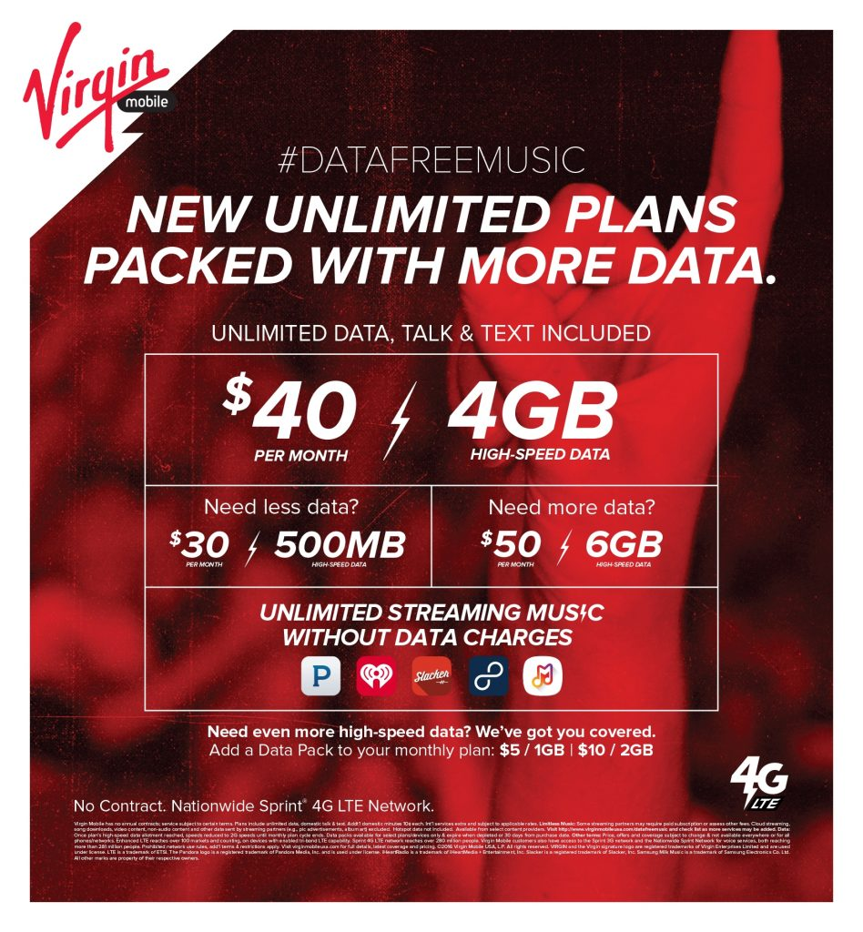 Virgin Mobile USA Launches 40 Month Unlimited Plan With