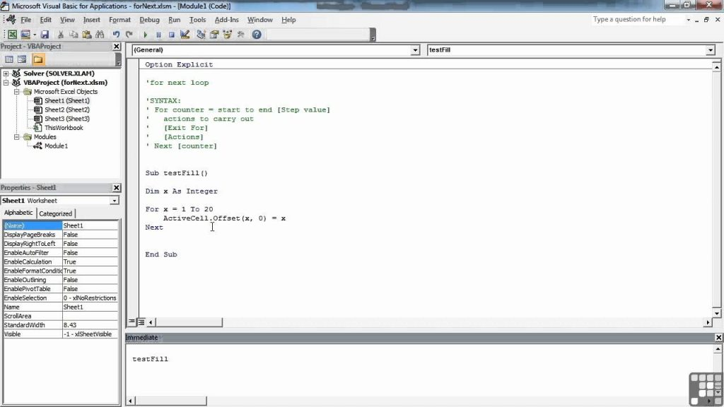 Visual Basic For Excel Tutorial The FOR Loop