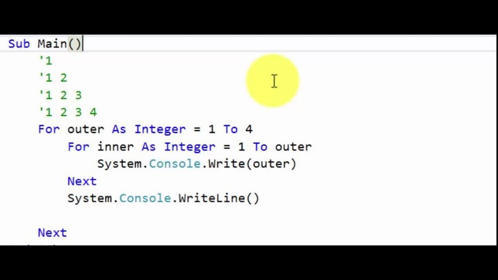 Visual Basic Nested Loops Example 3 YouTube