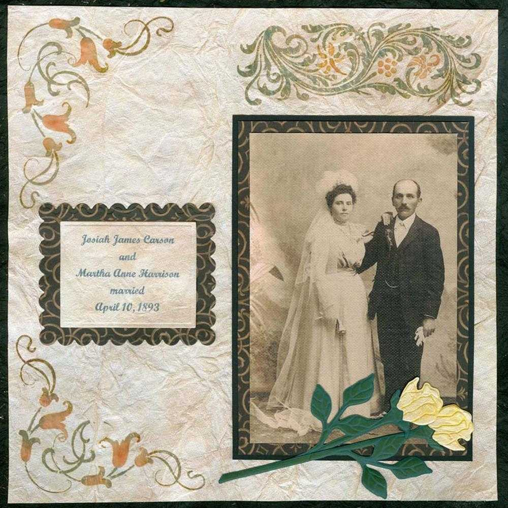 Vintage Wedding Day Scrapbook Layout FaveCrafts
