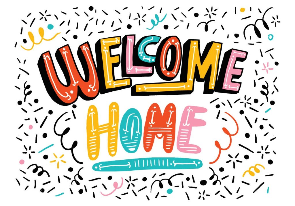 Bright Welcome Home Lettering Download Free Vectors