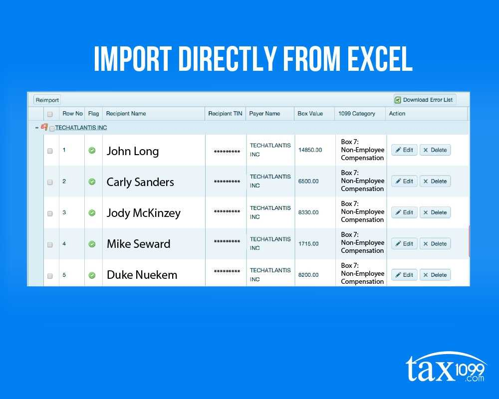 Import Directly From Excel