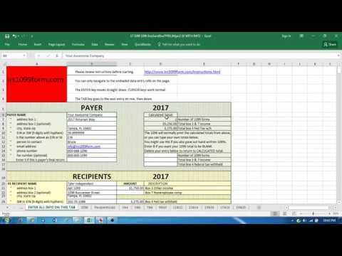 Print To Your 1099 MISC With Simple Excel Template