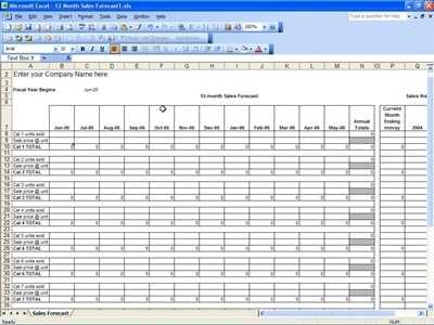 Sales Forecast Template Excel Templates