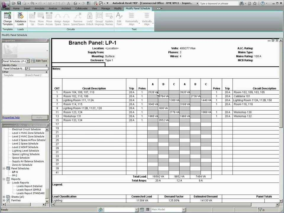 5 Phase Panel Schedule Template Excel 5 Things You Most