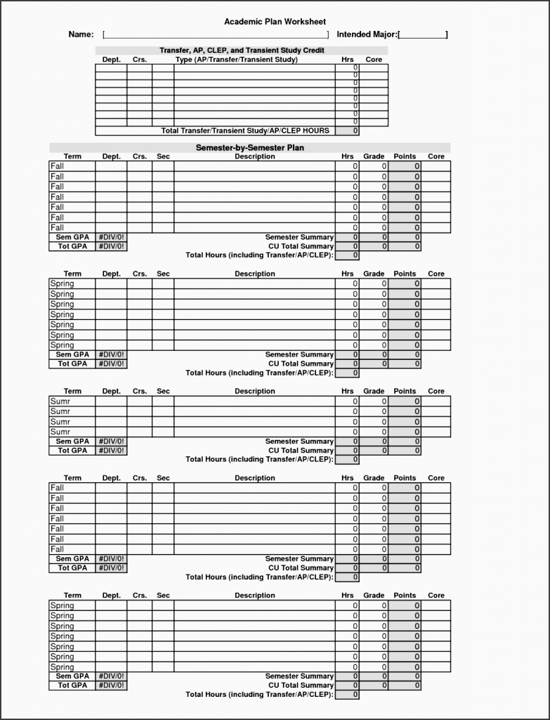 9 College Year Planner Layout SampleTemplatess