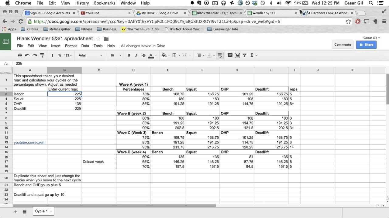 Wendler 5 3 1 Explained Free Spreadsheet In Description
