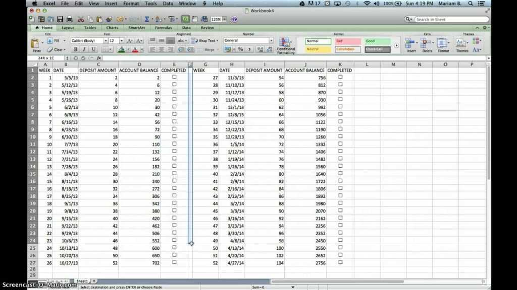 52 WEEK CHALLENGE EXCEL SHEET YouTube
