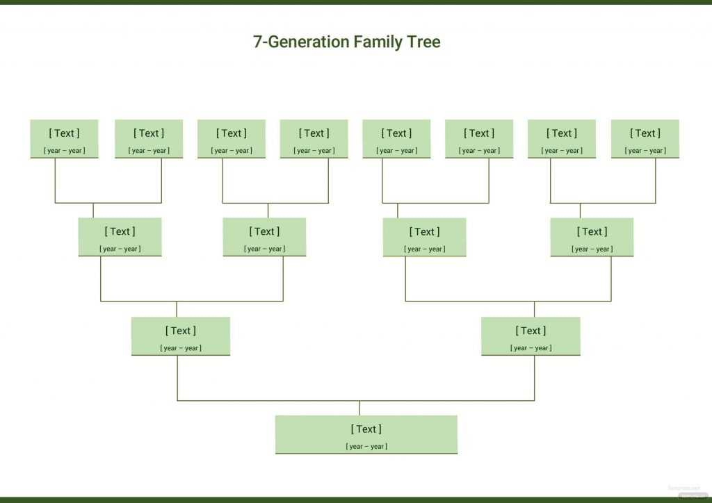 Seven Generation Family Tree Template In Microsoft Word