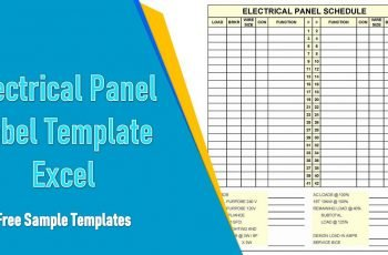 Electrical Panel Label Template Excel