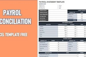 Payroll Reconciliation Excel Template