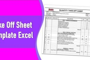 Take Off Sheet Template Excel