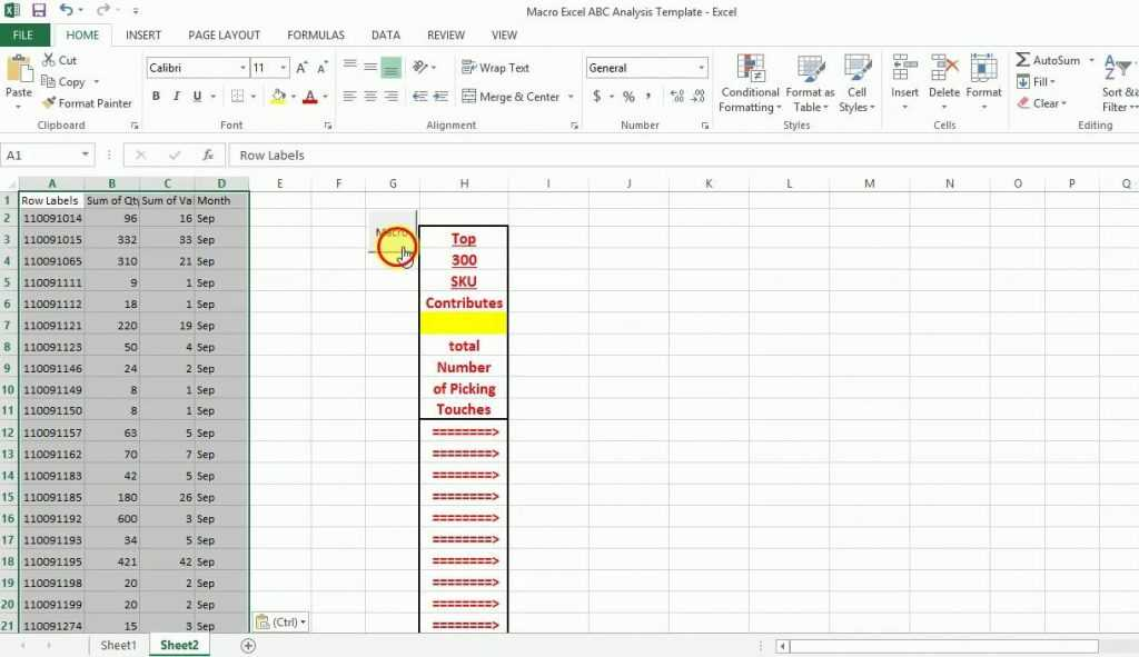 Macro ABC Analysis Excel Template Demo YouTube