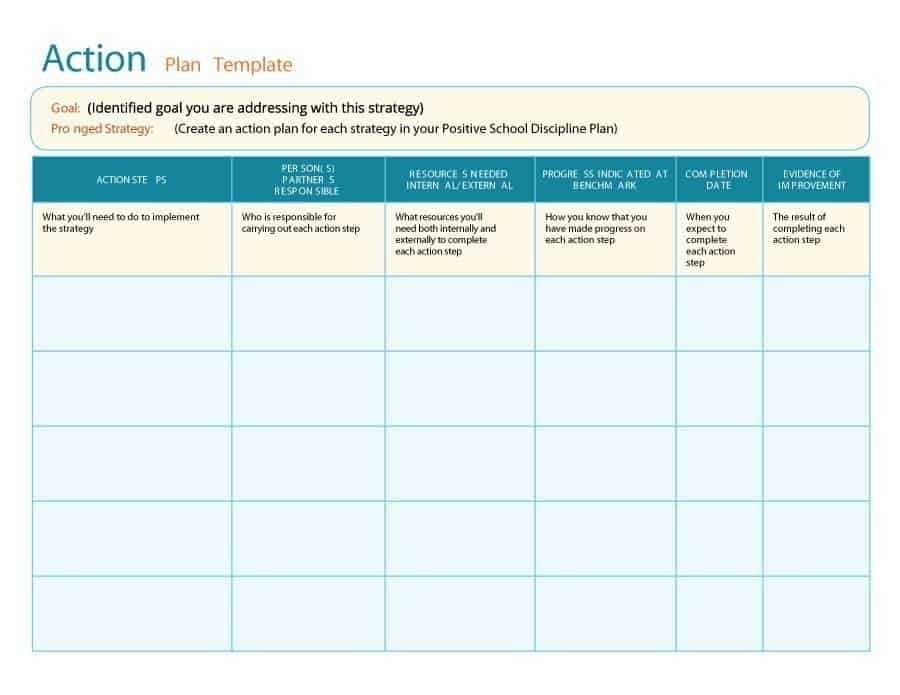 11 Free Action Plan Templates Word Excel Formats