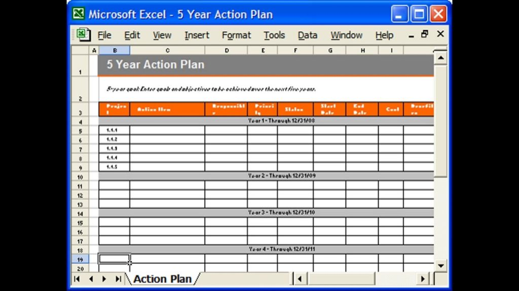 ACTION PLAN TEMPLATE EXCEL YouTube