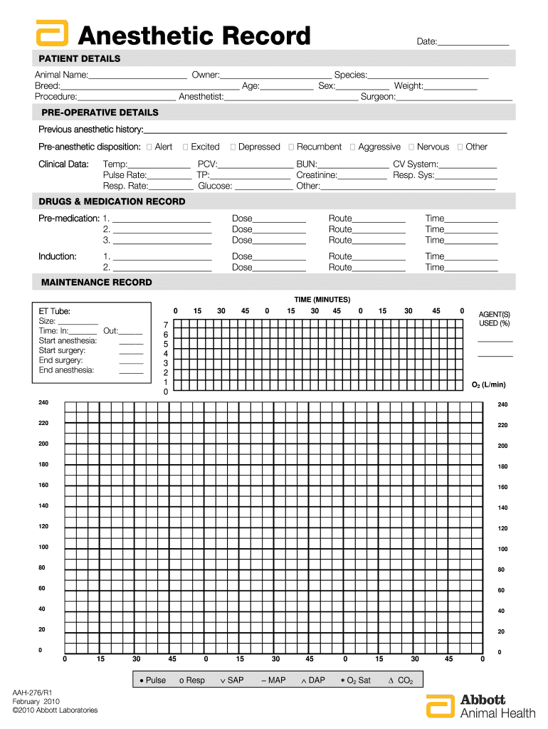 Printable Anesthesia Record Fill Out And Sign Printable