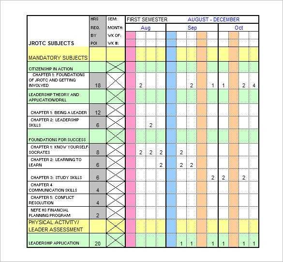 Training Schedule Template 11 Free Sample Example