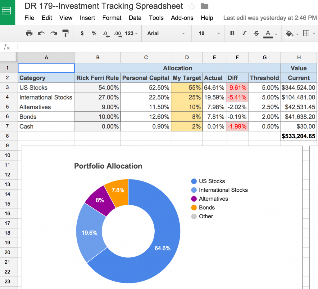 An Awesome and Free Investment Tracking Spreadsheet