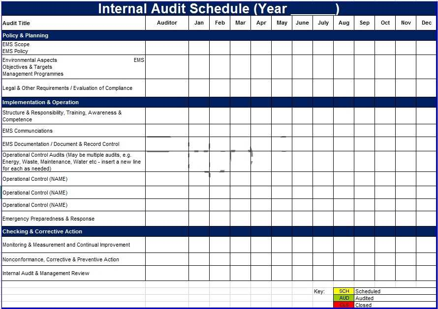 6 Free Audit Schedule Templates In MS Word And MS Excel