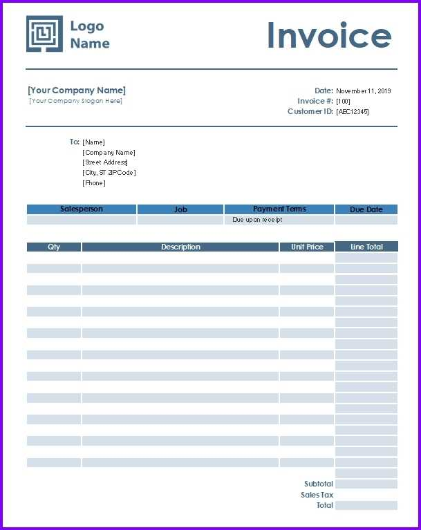 Auto Repair Invoice Template EXCELTEMPLATES