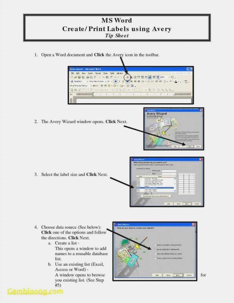 Avery 5160 Excel Template Excelguider