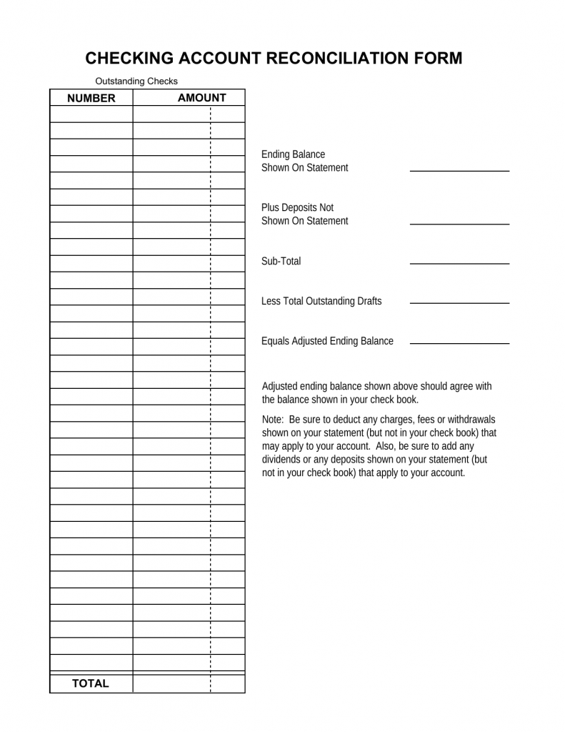 Download Reconciliation Balance Sheet Template Excel