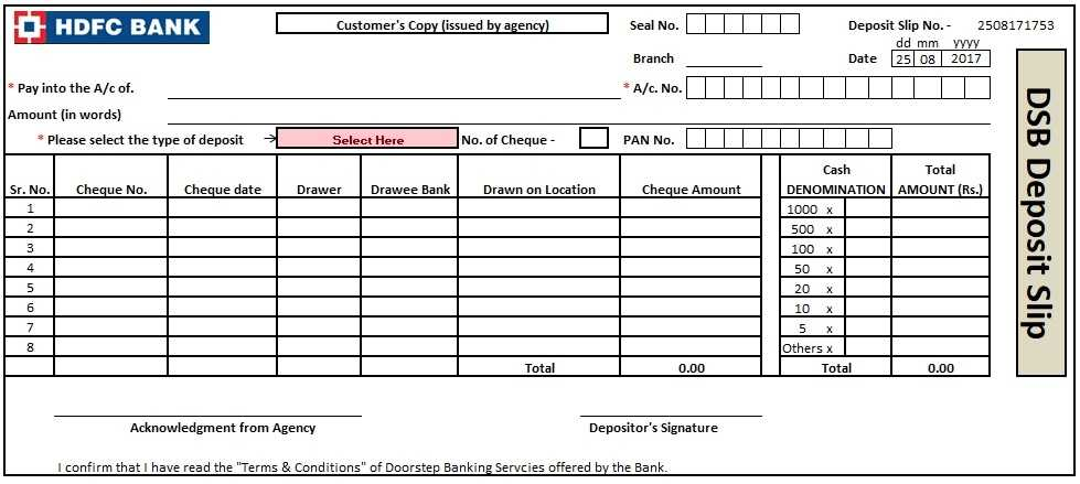 3 Bank Deposit Slip Template Excel Word And PDF Excel Tmp