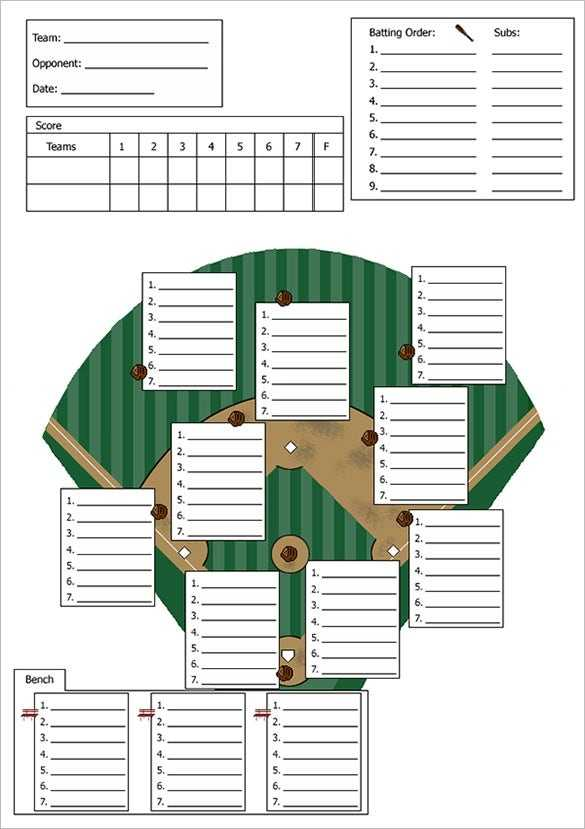 9 Baseball Line Up Card Templates DOC PDF PSD EPS