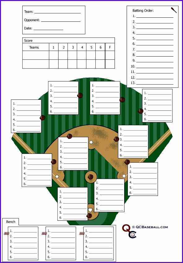 8 Baseball Lineup Excel Template Excel Templates Excel