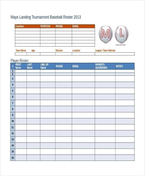 Roster Template 8 Free Word Excel PDF Document