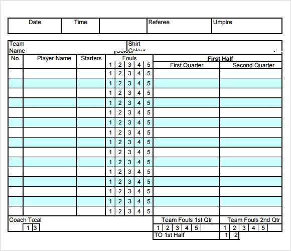 FREE 11 Sample Basketball Score Sheet Templates In Google
