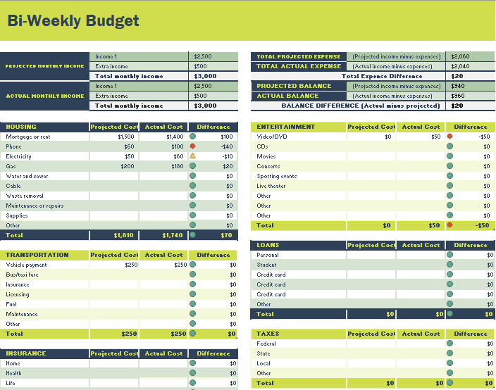 26 Free Bi Weekly Budget Templates MS Office Documents