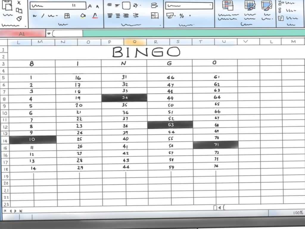 How To Make A Bingo Game In Microsoft Office Excel 2007 9