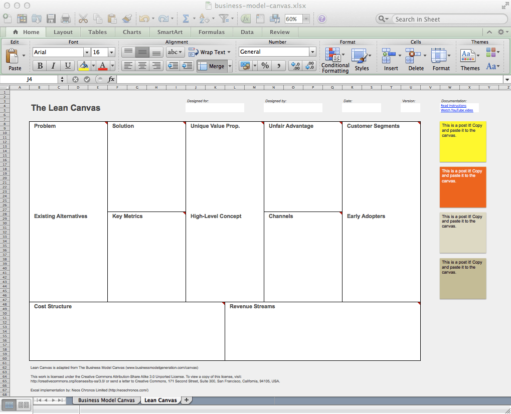 Business Model Canvas And Lean Canvas Templates Neos Chonos