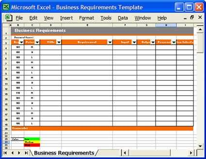 Business Requirements Specification Template