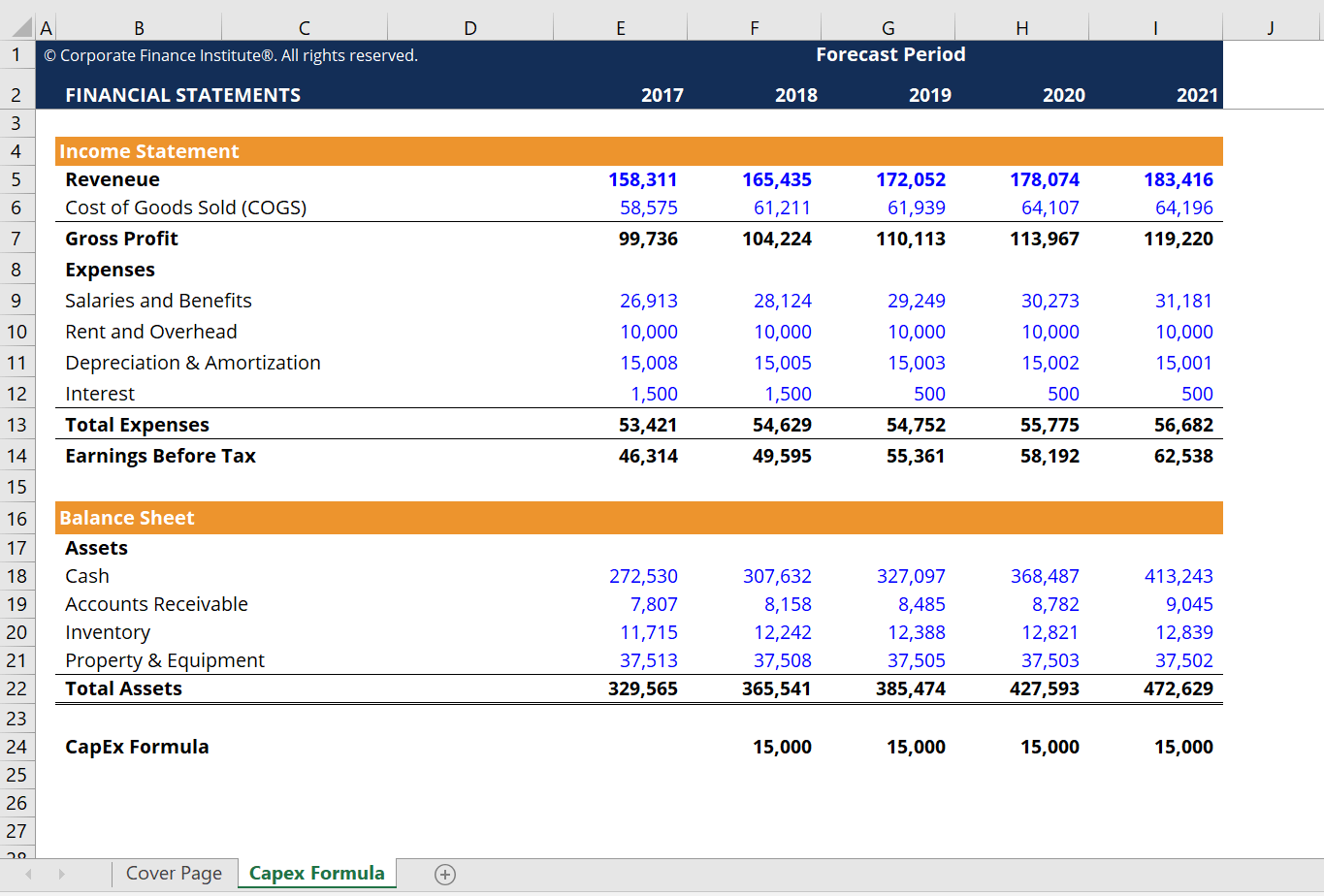 Capital Expenditure CapEx Excel Calculator CFI Marketplace