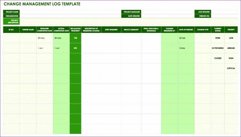10 Change Control Template Excel Excel Templates Excel