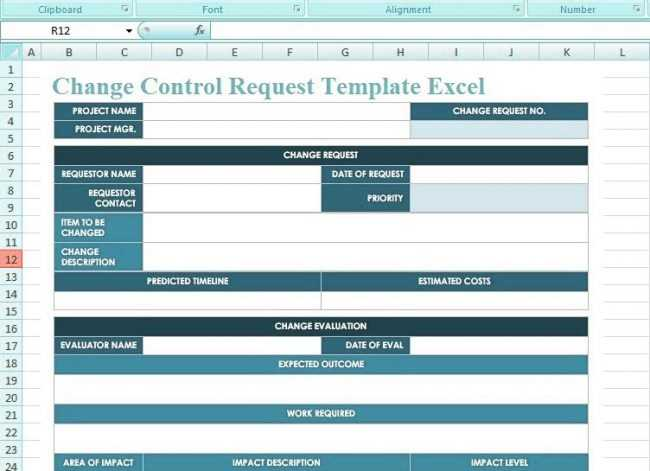 How To Use Change Control Request Template Excel ExcelTemple