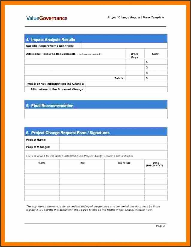 9 Change Request Form Template Excel SampleTemplatess