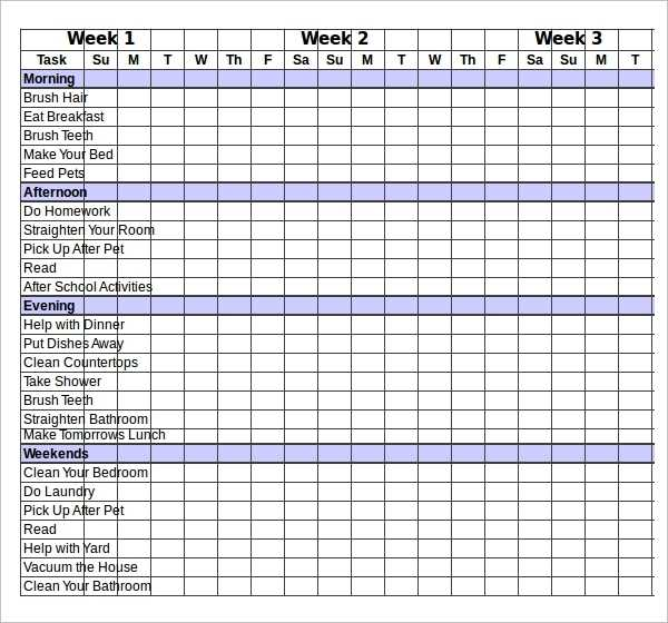 FREE 60 Chart Templates In PDF MS Word Excel