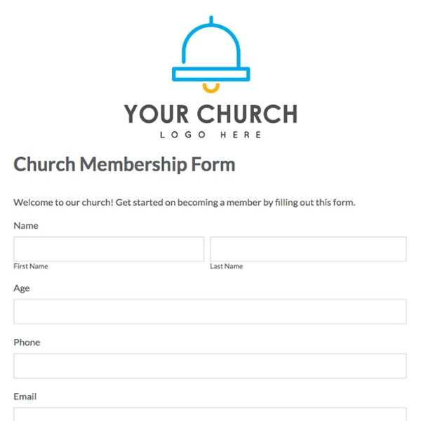 Sample Church Membership Form Template Excel Templates