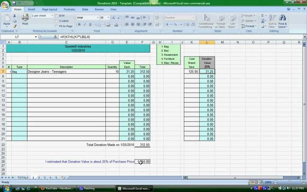 Free Church Tithe And Offering Spreadsheet Charlotte