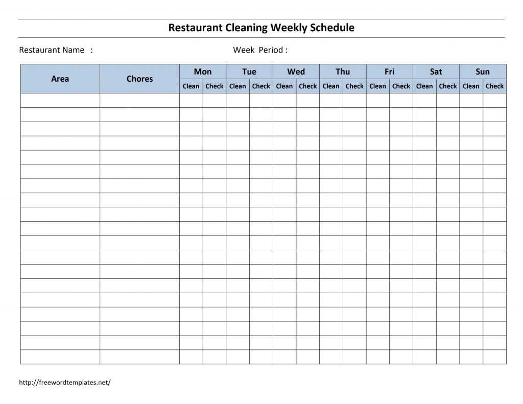Weekly Cleaning Schedule Template In 2020 Cleaning