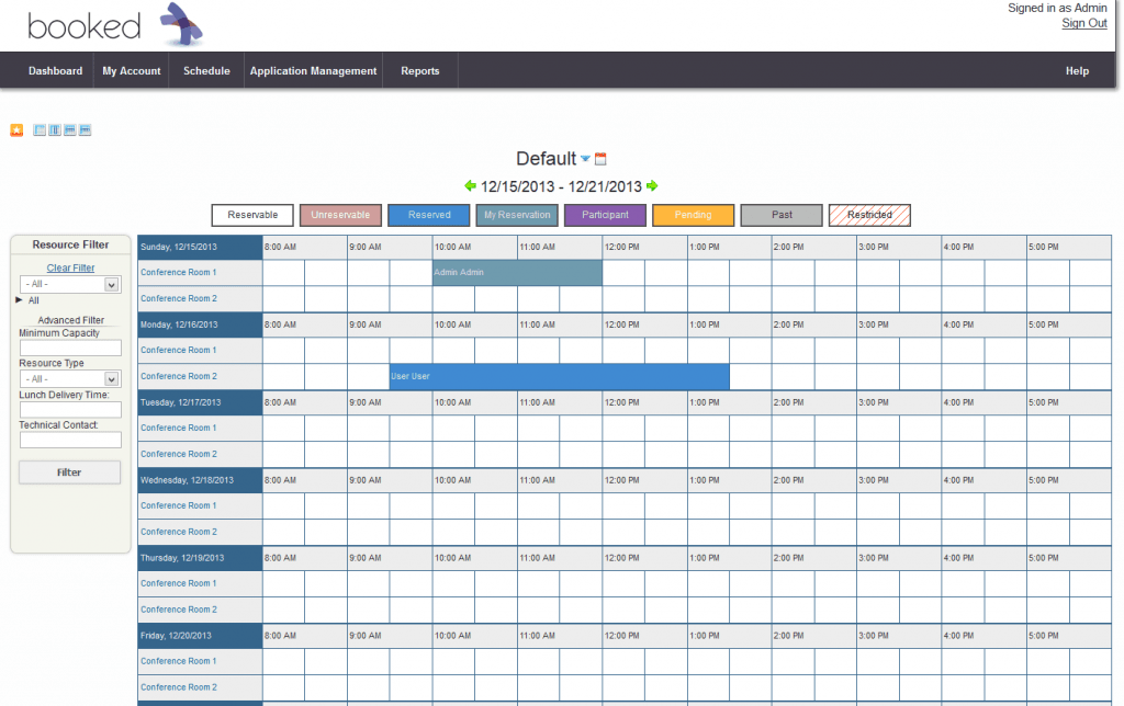 6 Conference Room Schedule Templates Excel Templates
