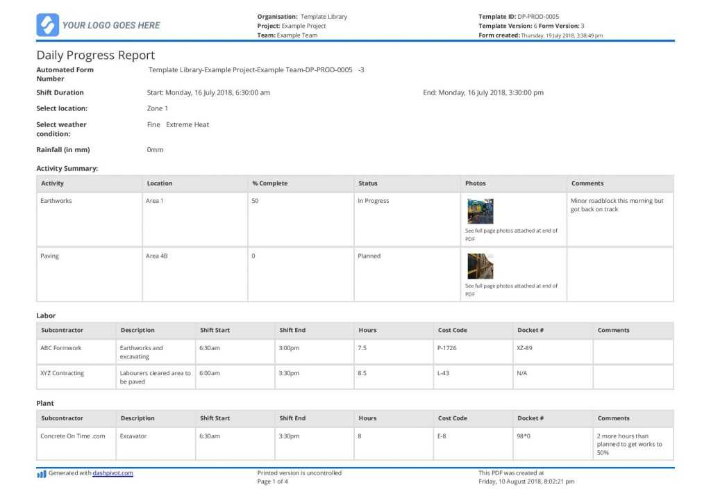 Free Construction Daily Report Template better Than PDF
